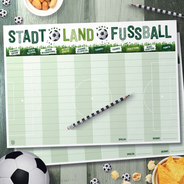 Spielblock - Stadt Land Fussball