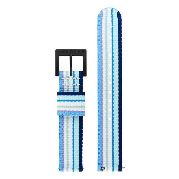 Mondaine SBB Textil Armband aus recyceltem PET 20 mm