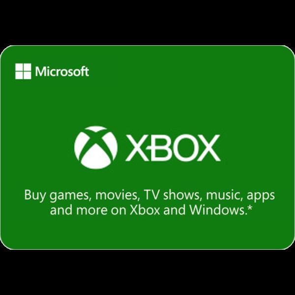 Microsoft Xbox voucher