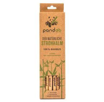 Pailles en bambou Pandoo (lot de 12)