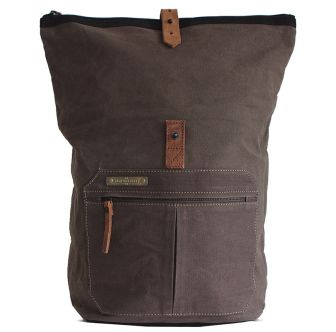 Margelisch Backpack Ulom 3 Canvas - khaki, grey/red