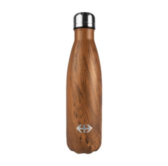"""Insulating bottle stainless steel 5 dl """"wood look"""""""
