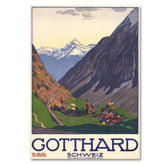 "Poster ""Gotthard"""