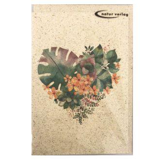 """Carte """"Coeur de fleur"""""""