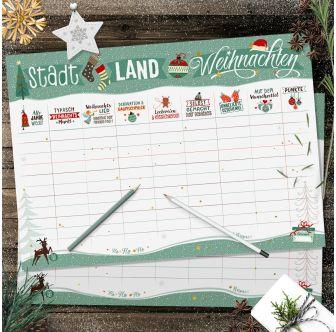 Spielblock - Stadt Land Weihnachten