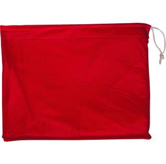 Poncho imperméable rouge