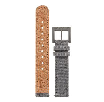 Mondaine SBB Textil Armband mit Korkfütterung 20 mm