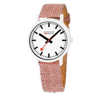 Mondaine SBB wristwatch Essence 41 mm