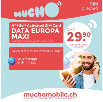 Scheda SIM MUCHO Mobile Pack DATAEUROPA MAXI