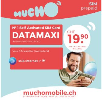 Scheda SIM MUCHO Mobile Pack DATAMAXI