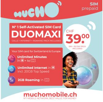 Scheda SIM MUCHO Mobile Pack DUOMAXI