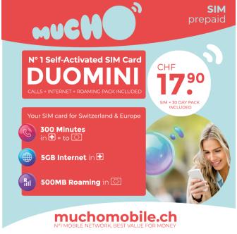 Scheda SIM MUCHO Mobile Pack DUOMINI