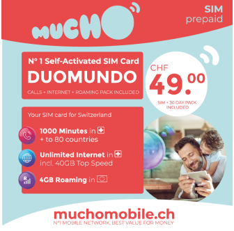 Scheda SIM MUCHO Mobile Pack DUOMUNDO