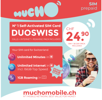 Scheda SIM MUCHO Mobile Pack DUOSWISS