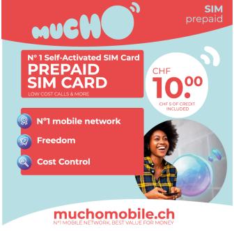 Scheda SIM MUCHO Mobile 10 + 5